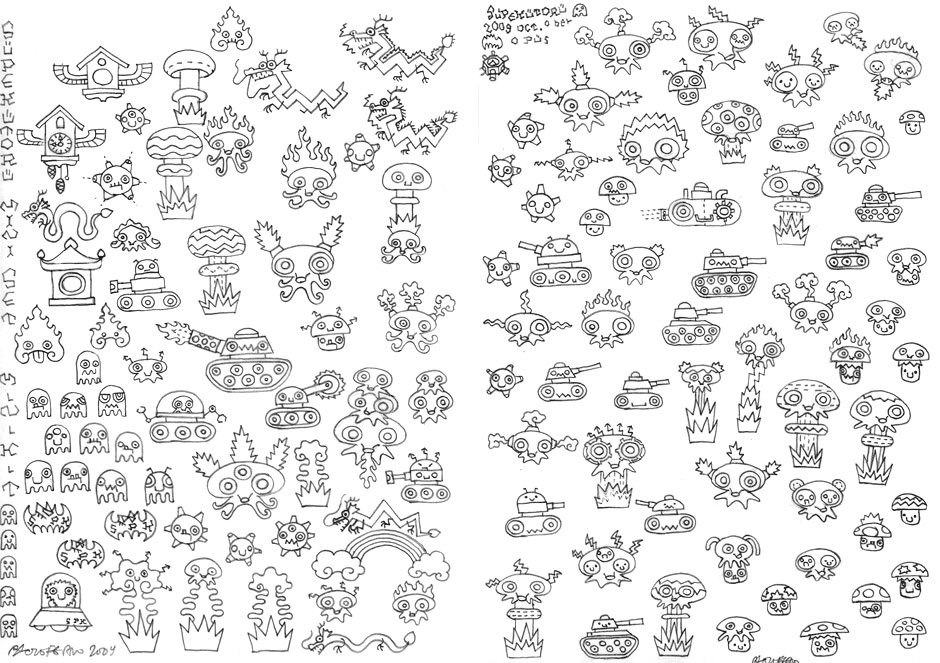 Supekutoru mini-set disegno